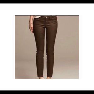 Banana Republic Skinny Brown Wax Jeans